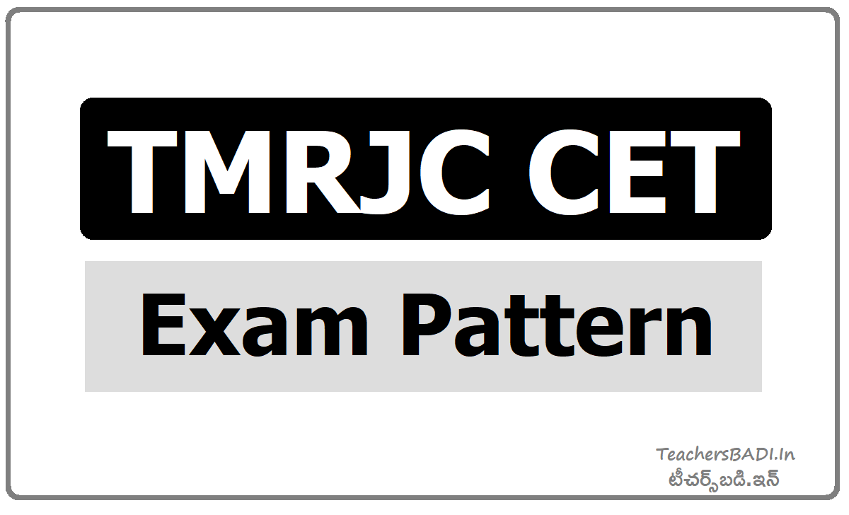 TMRJC CET Exam Pattern