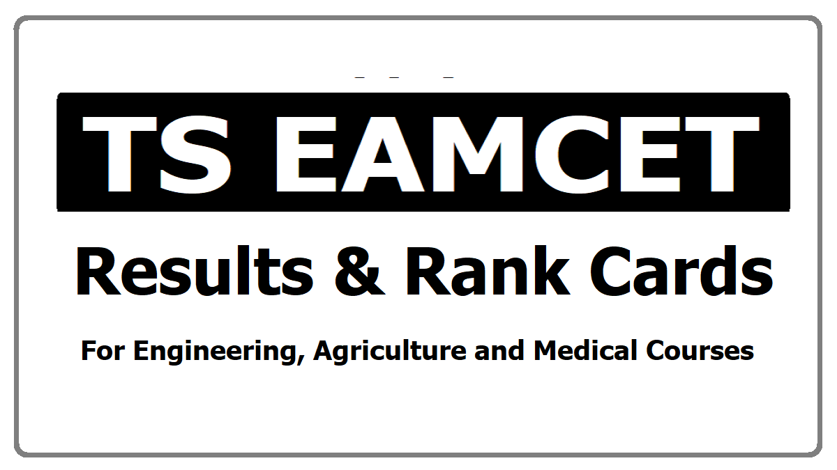 TS EAMCET Results & Rank Cards, How to Check?
