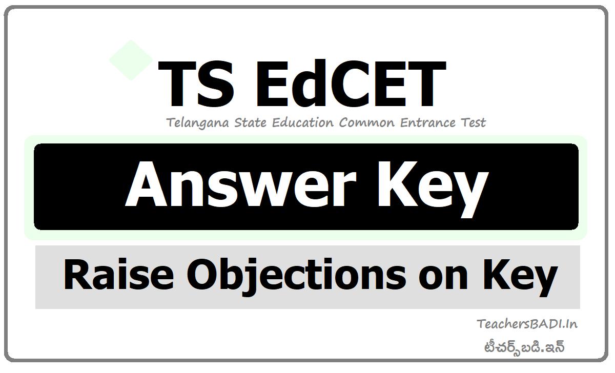 TS EdCET Answer Key 2020 & Raise Objections on Key