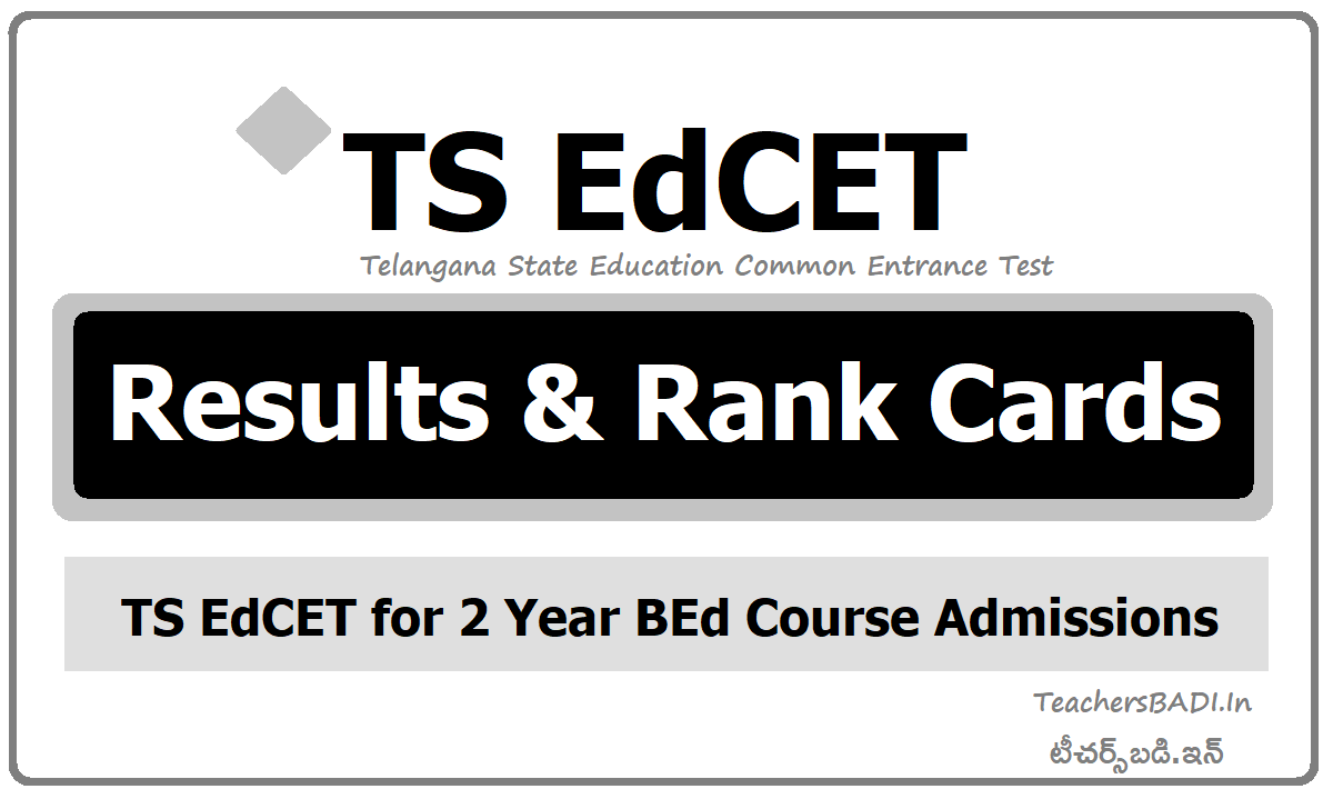 TS EdCET Results & Rank Cards