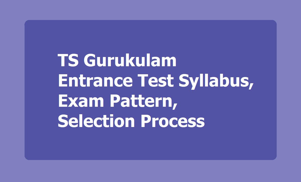 TS Gurukulam Entrance Test Syllabus, Exam Pattern, Selection Process 2020