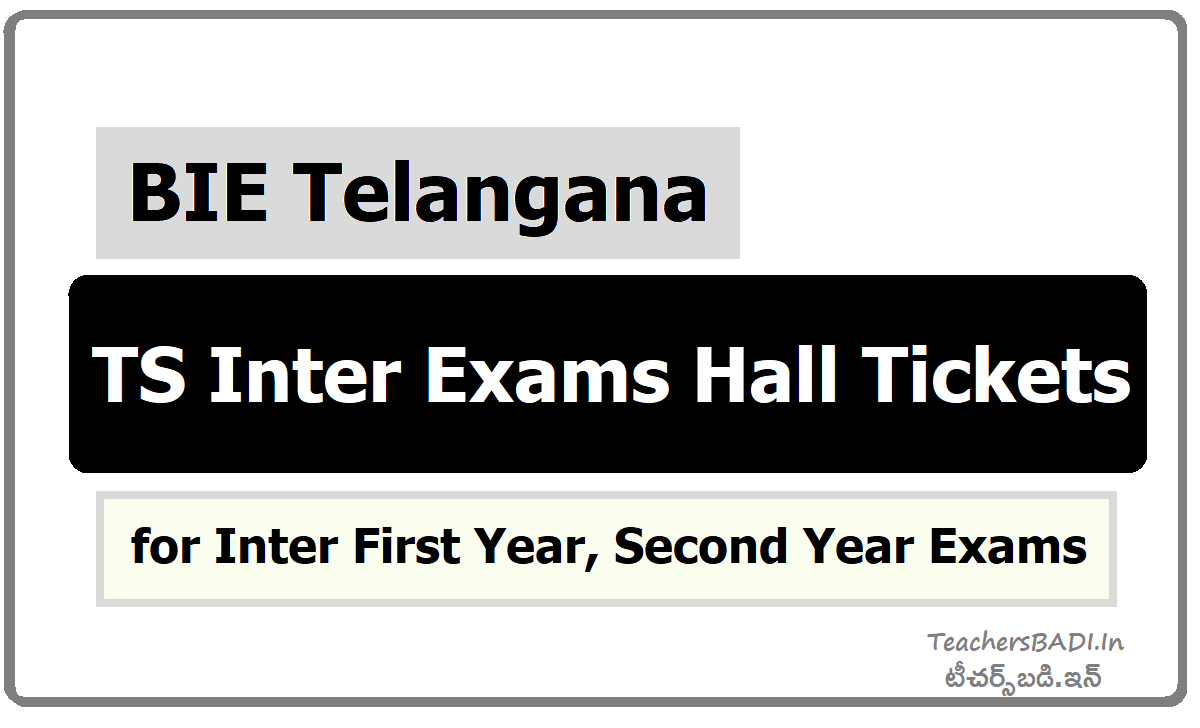 TS Inter Exams Hall Tickets 2021 for Inter First year, Second-year Exams