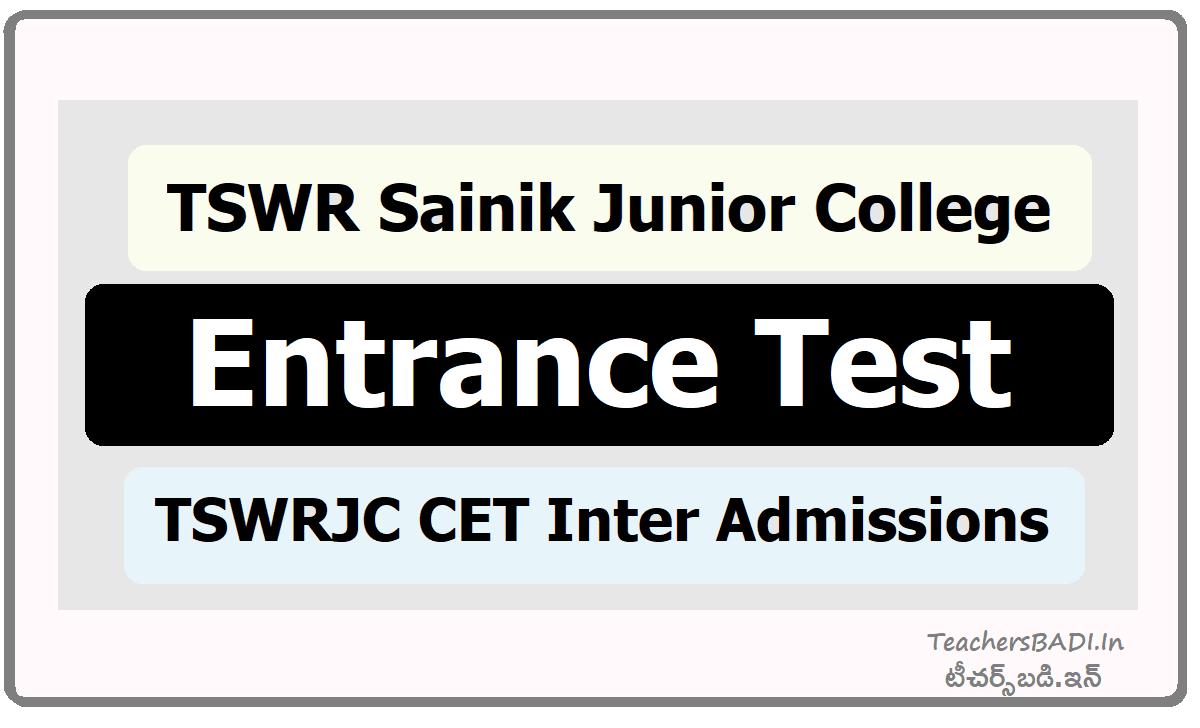 TSWR Sainik Junior College Entrance Test TSWRJC CET Inter Admissions