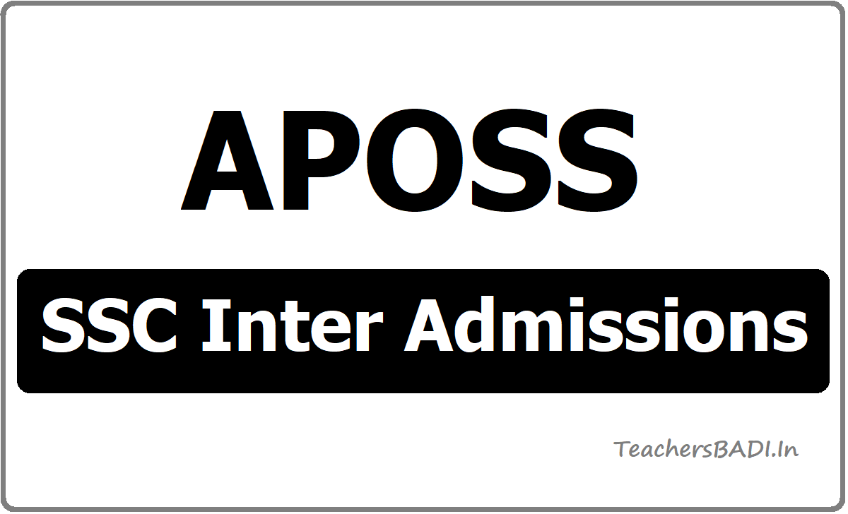 APOSS SSC Inter Admissions