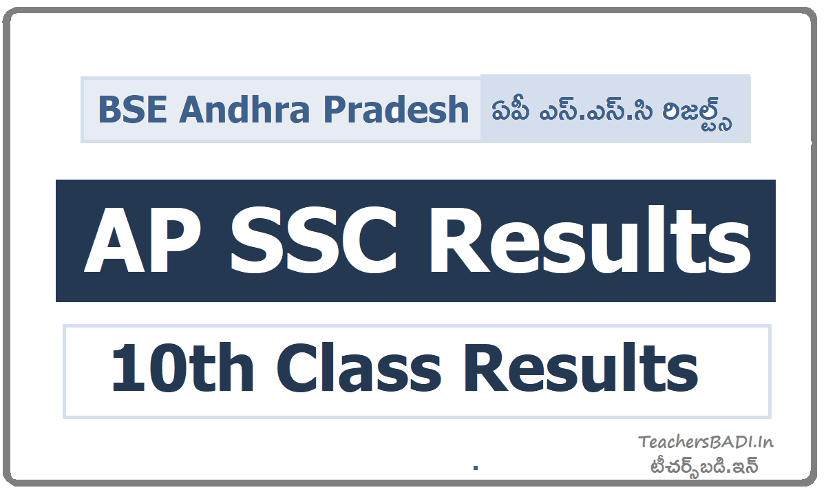AP SSC Results for AP 10th Class Exams & Check Results