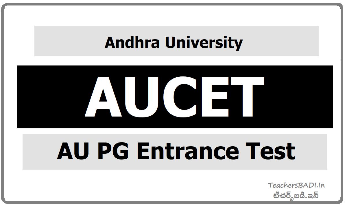 AUCET AU PG Entrance Test (AU PGCET)