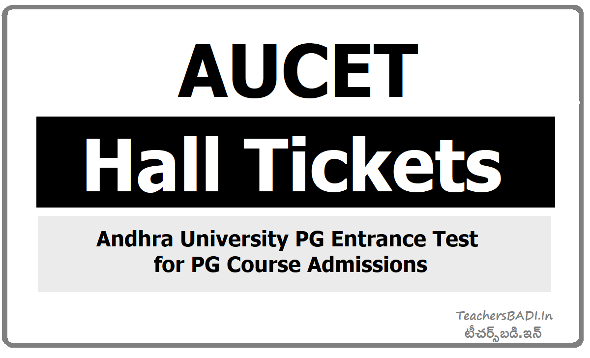 AUCET Hall Tickets 2020 download for AUPGCET