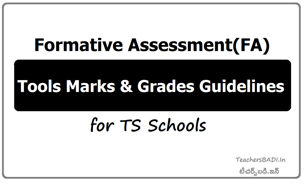 Formative Assessment FA Tools Marks & Grades Guidelines