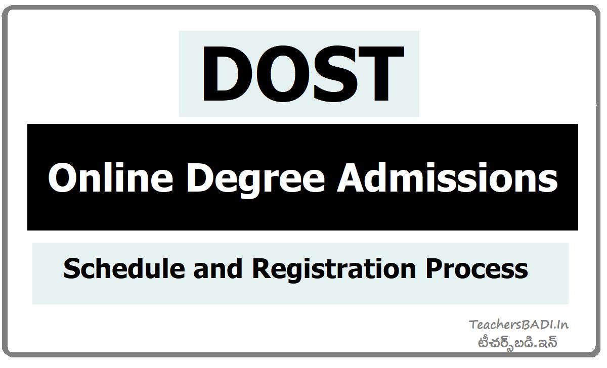 DOST Online Degree Admissions Schedule & Registration Process