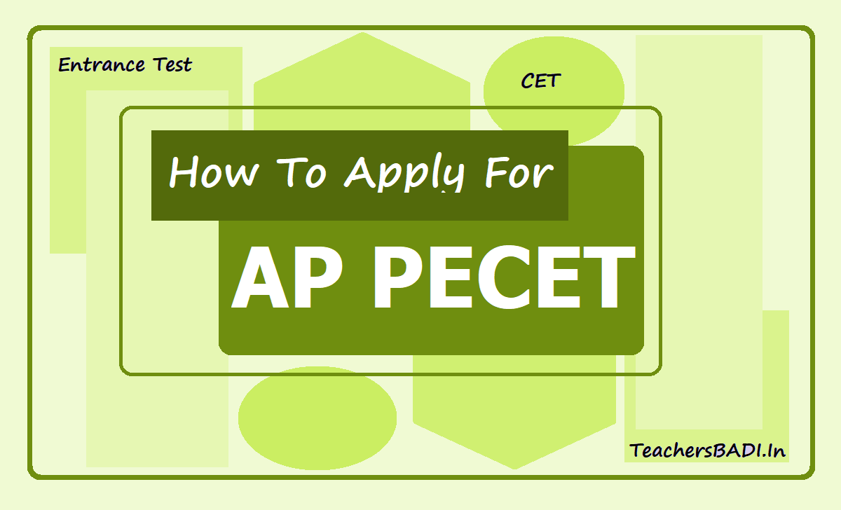 How To Apply for AP PECET