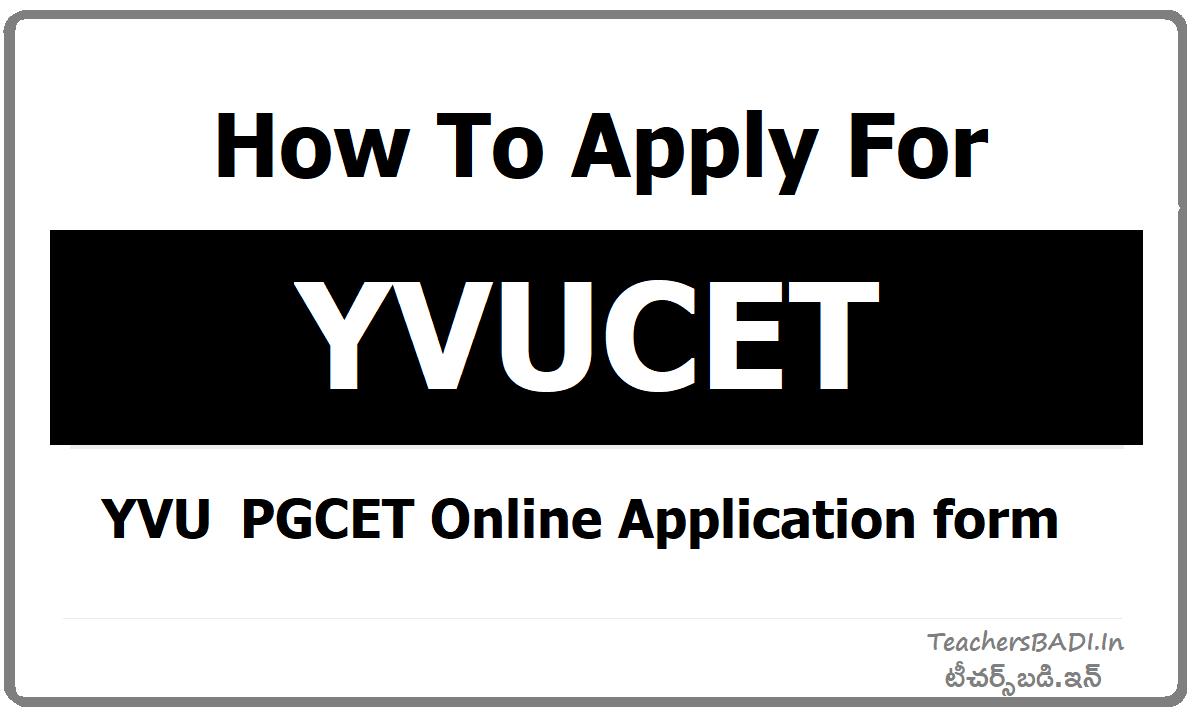 How To Apply for YVUCET - Submit Online Application form