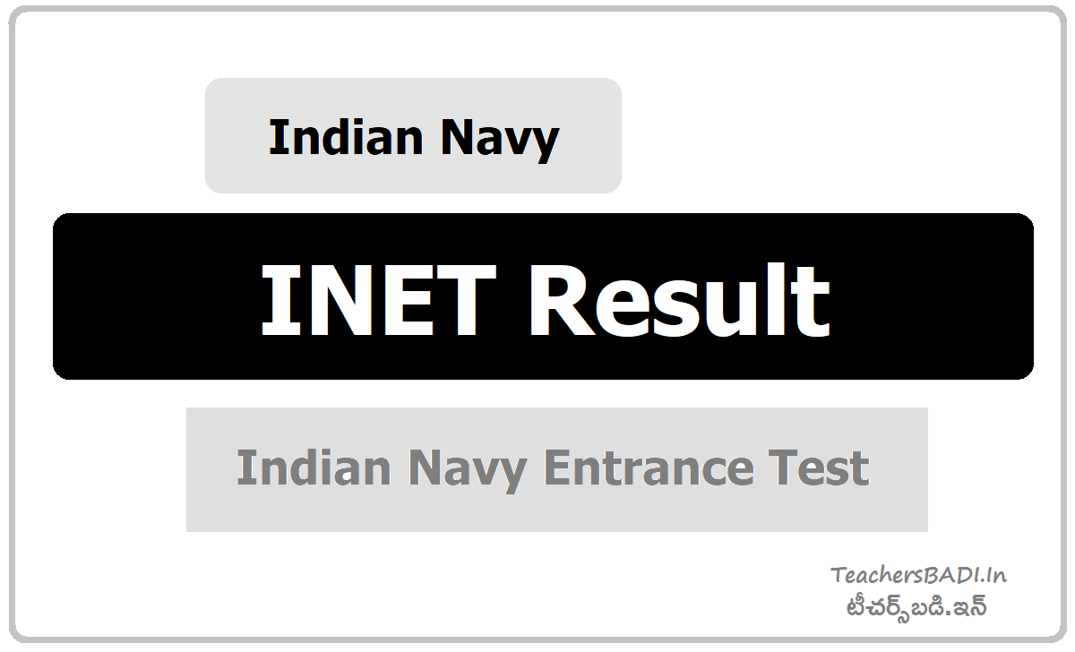 Indian Navy INET Result download from  joinindiannavy.gov.in