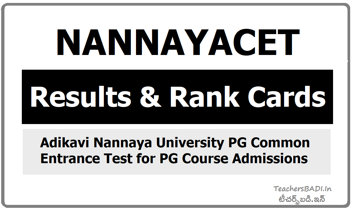 NANNAYACET Results & Rank Cards 2020 Download