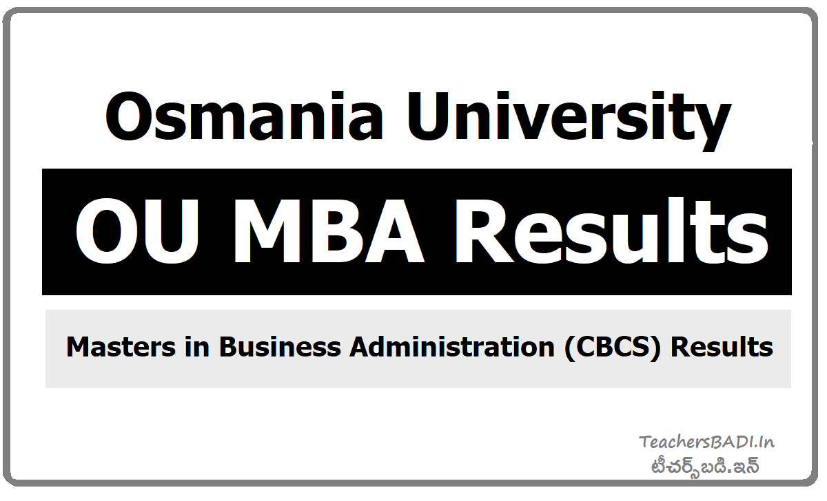 Osmania University, OU MBA Results