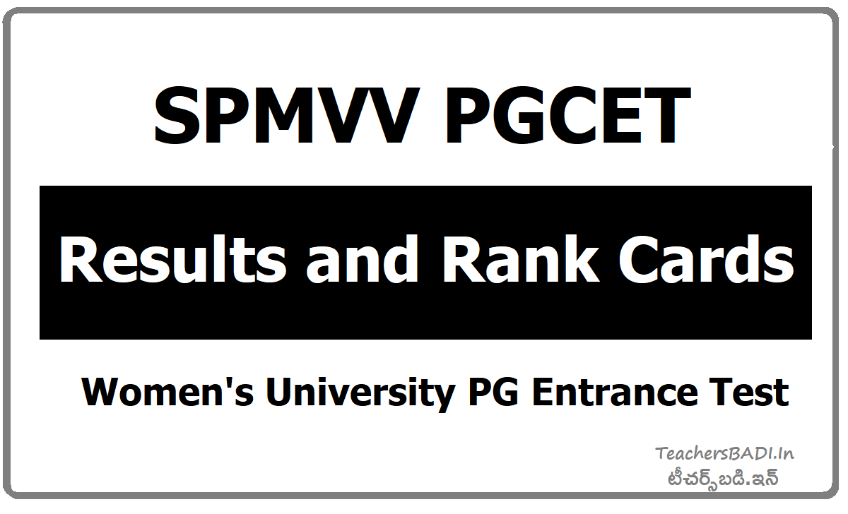 SPMVV PGCET Rank Cards & Results (Women's University)