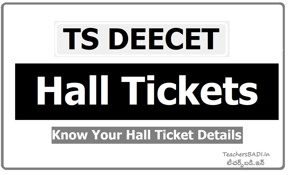 TS DEECET Hall Tickets