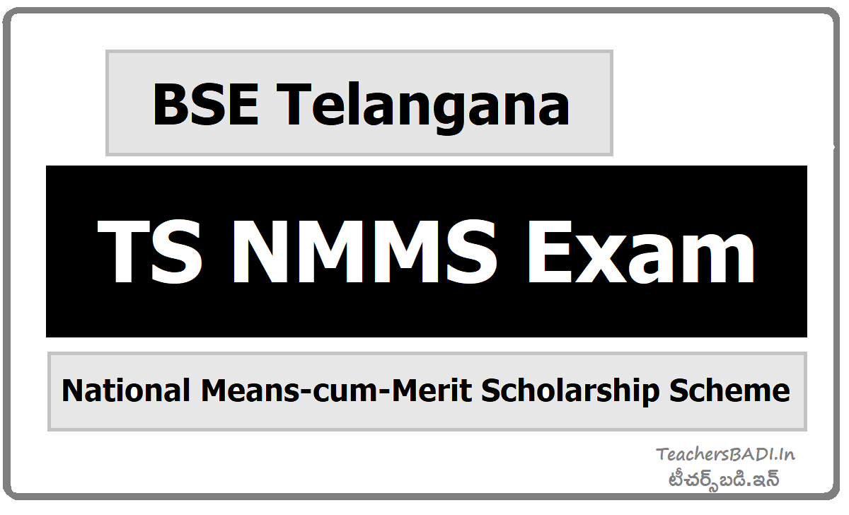 TS NMMS Exam under National Means-cum-Merit Scholarship Scheme