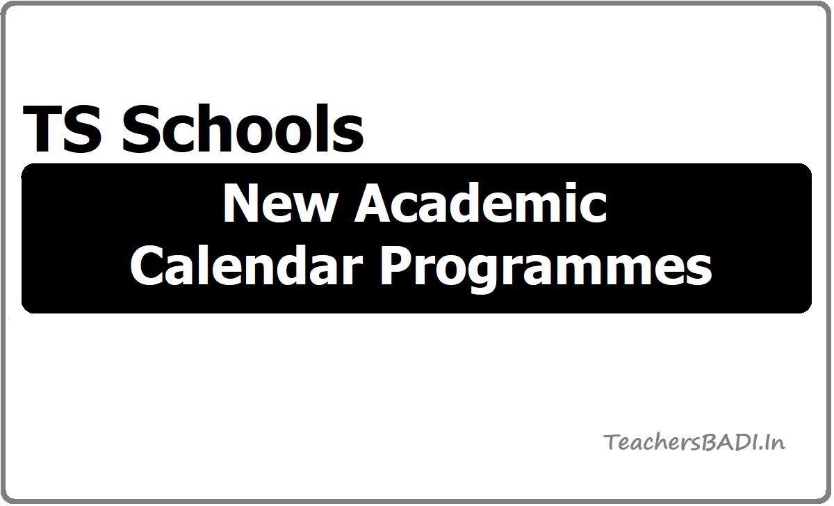 TS Schools New Academic Calendar Programmes