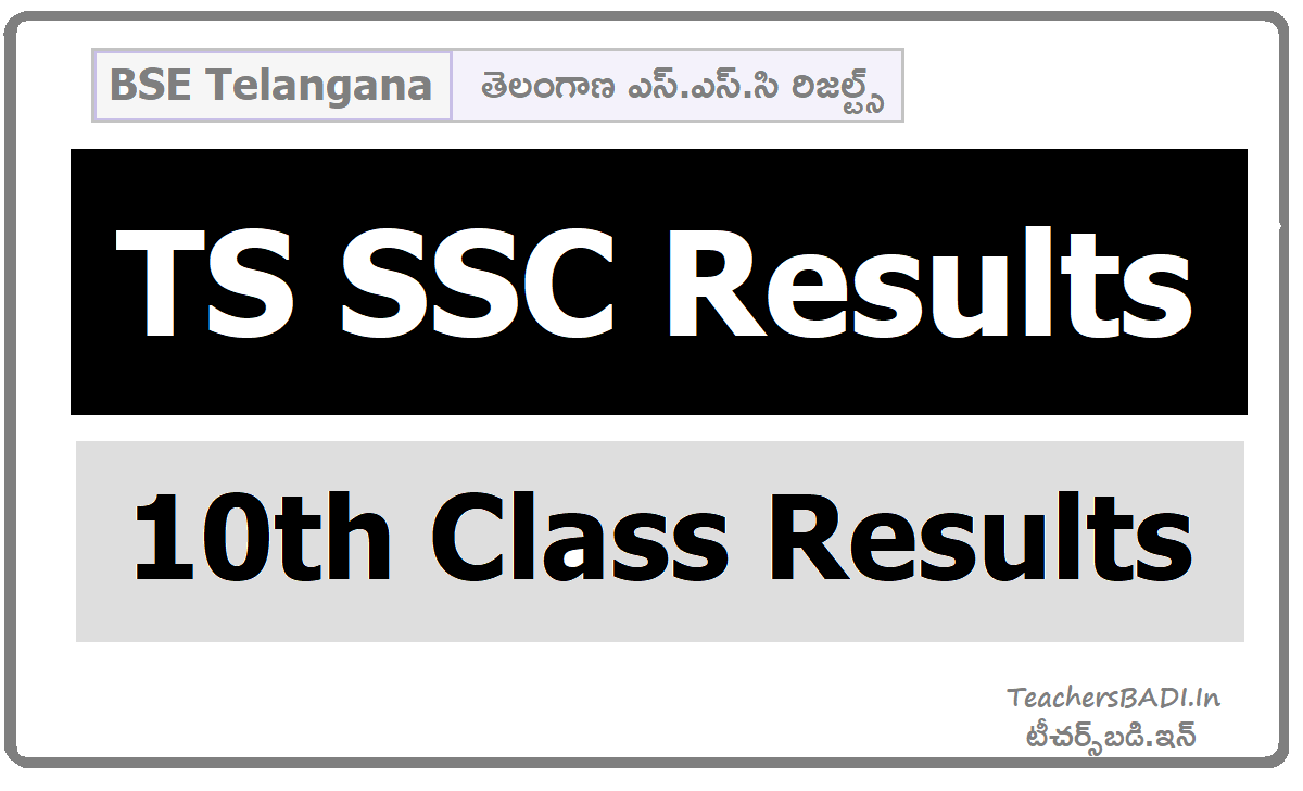 TS SSC Results and How to check TS 10th Class Results