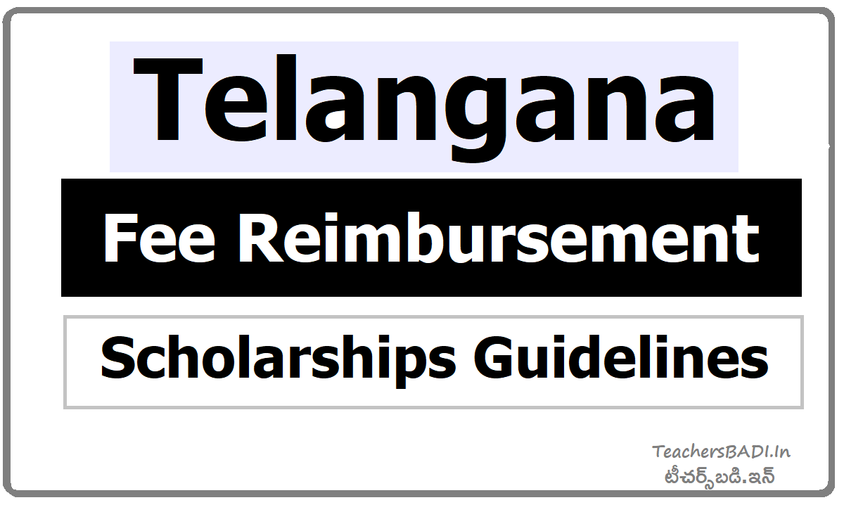 Telangana Fee Reimbursement Scholarships Guidelines