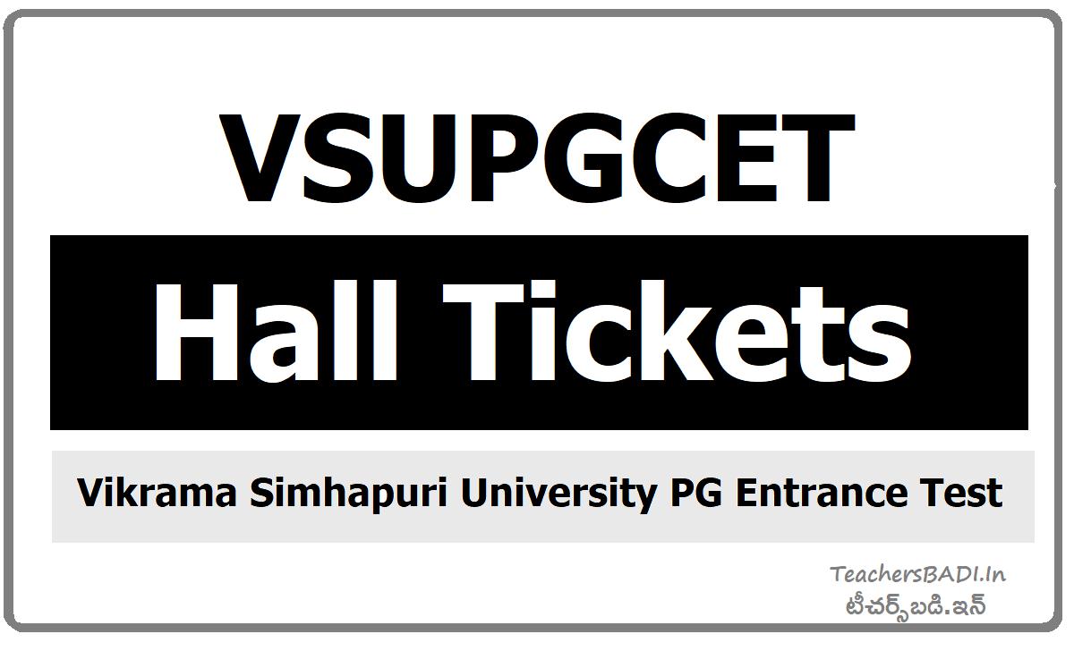 VSUPGCET Hall Tickets download