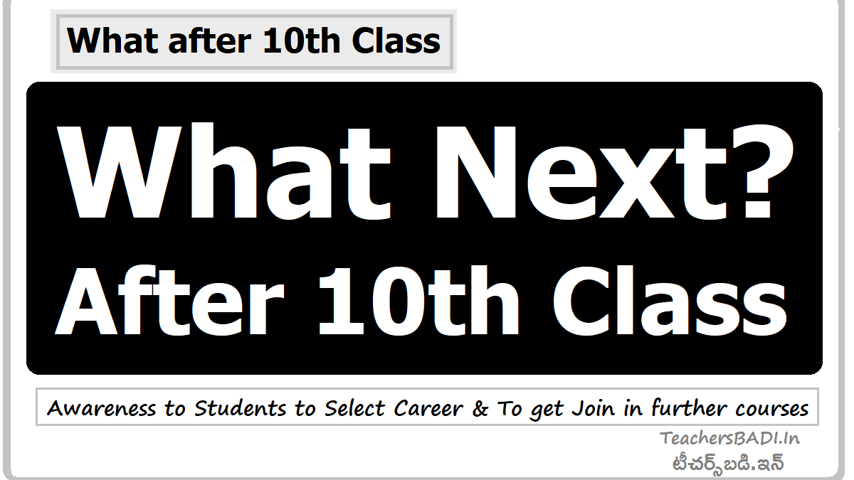 What Next After 10th Class Awareness To Students To Select Career To Get Join In Further Courses