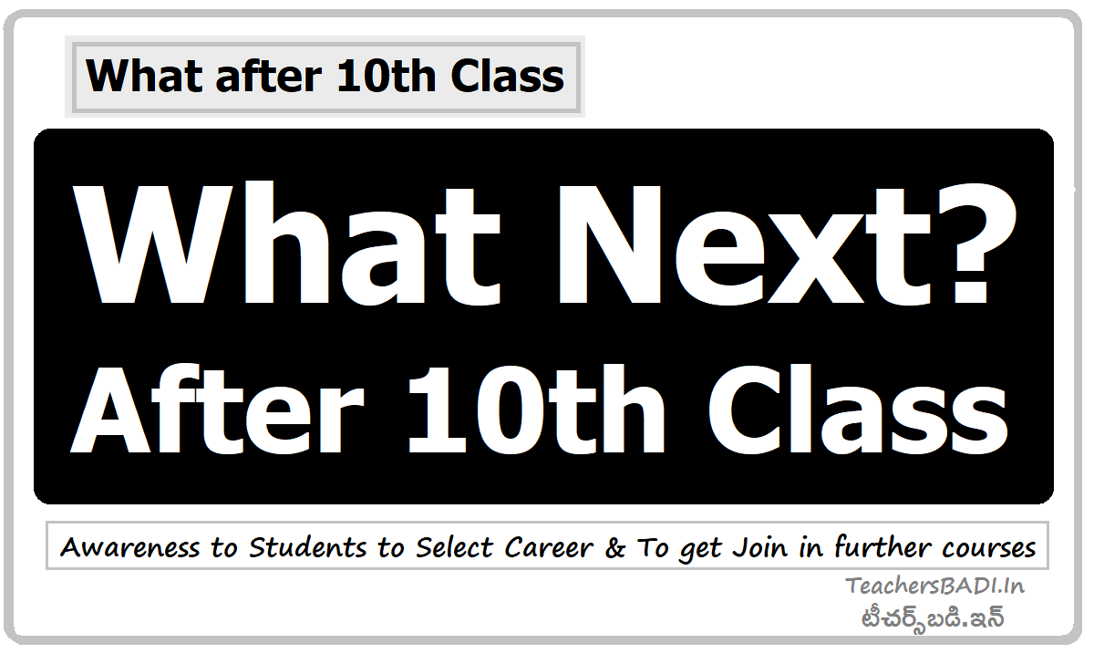 What Next? After 10th Class. Awareness to Students to Select Career & To get Join in further courses