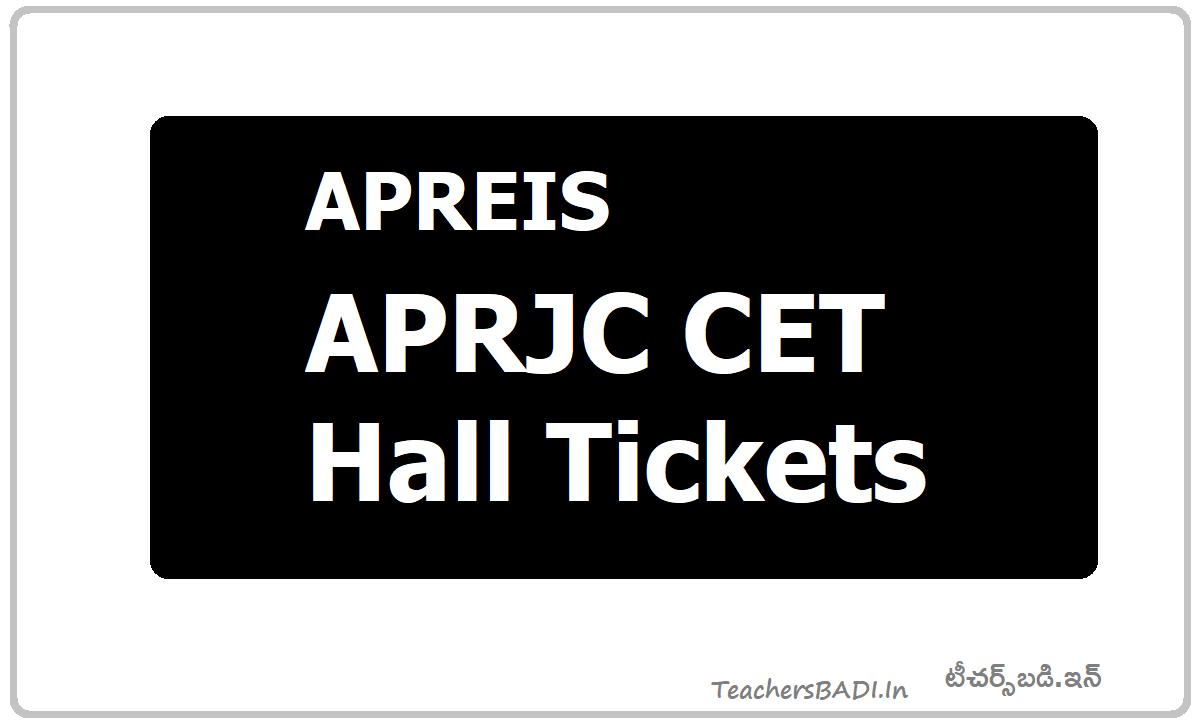 APRJC CET Hall Tickets 2020 (APRJC hall tickets)