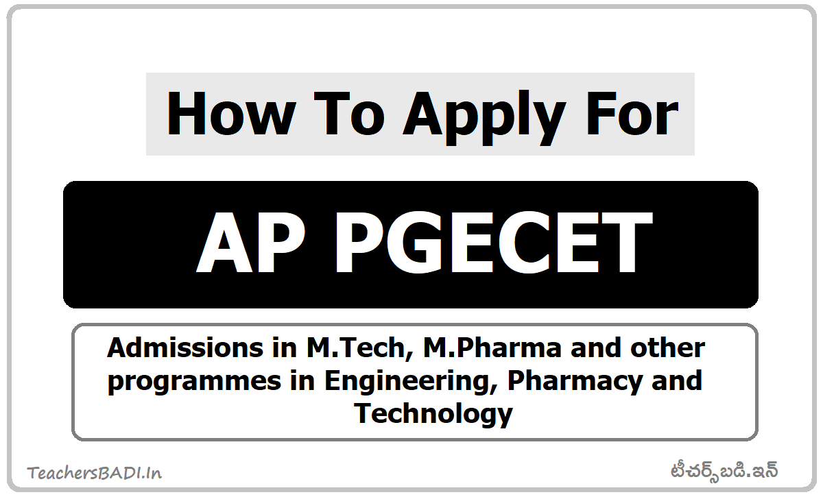 How To Apply for AP PGECET 2020 & How to Submit Online Application form