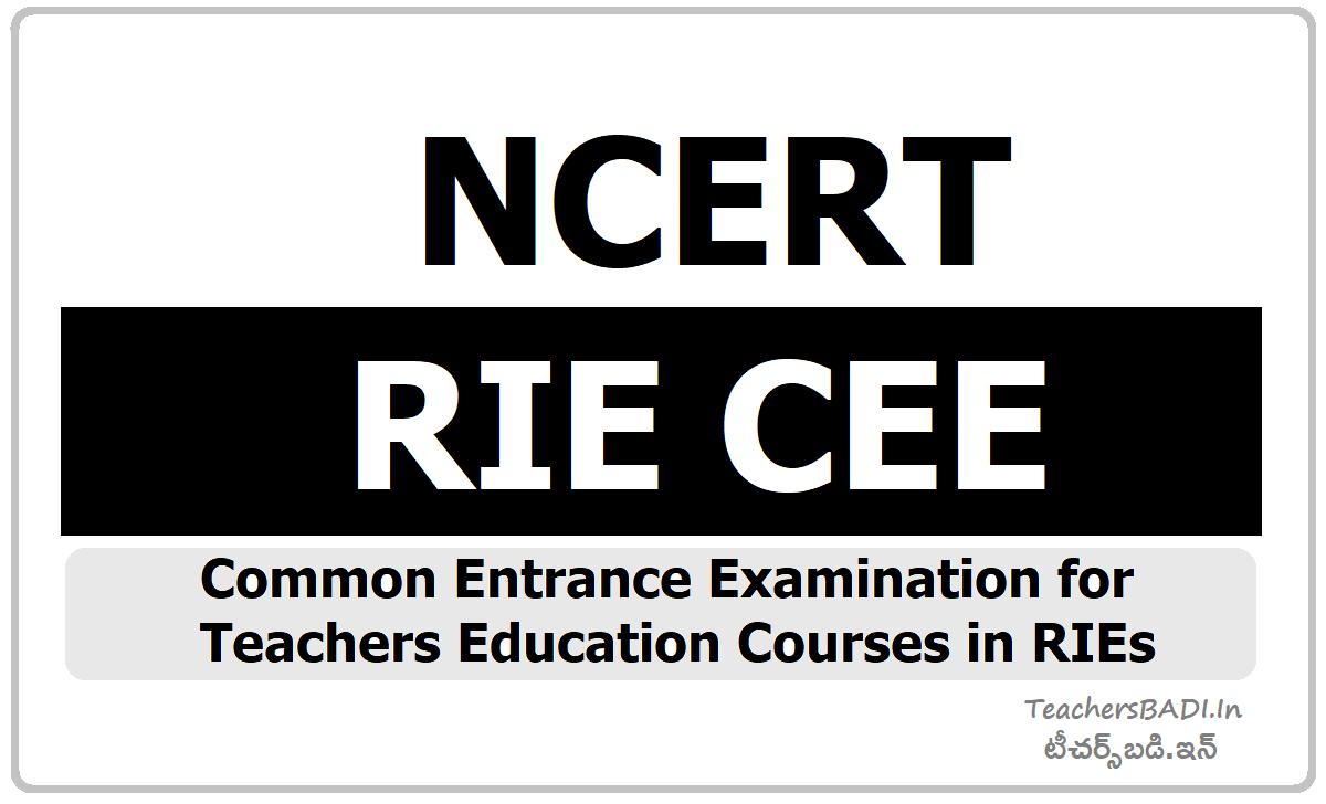 NCERT RIE CEE 2020