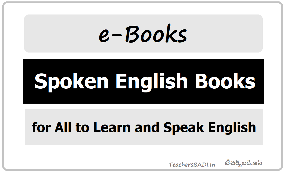 Spoken English Books for all to Learn and Speak English