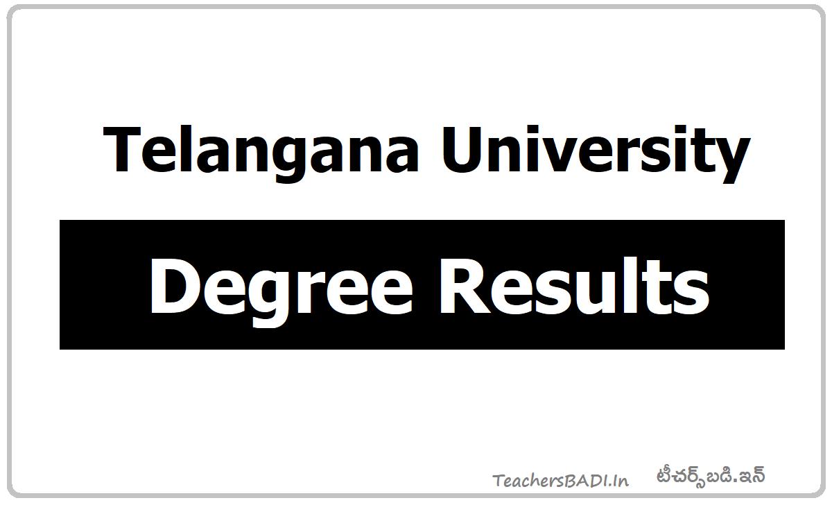 Telangana University Degree Results