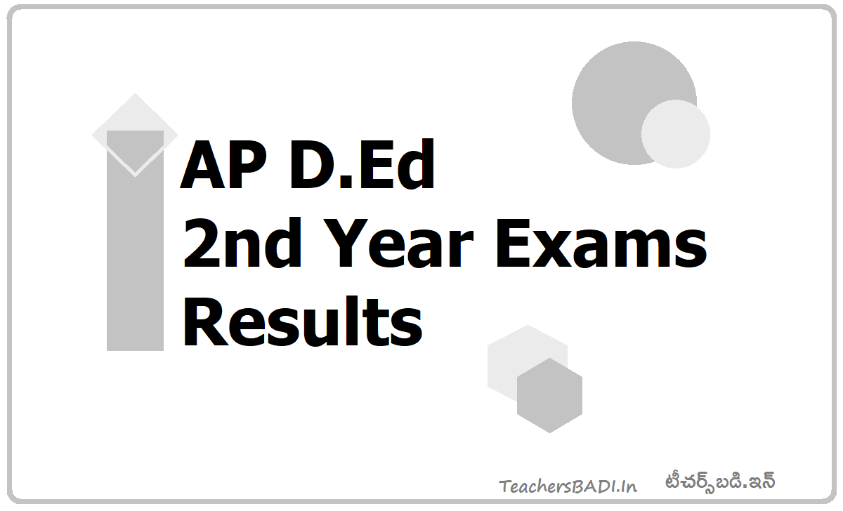 AP D.Ed 2nd Year Exams Results