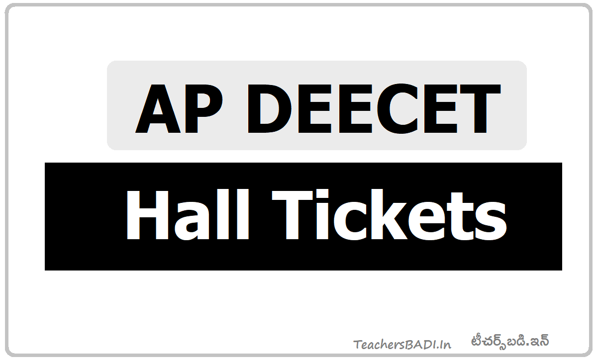 AP DEECET Hall Tickets