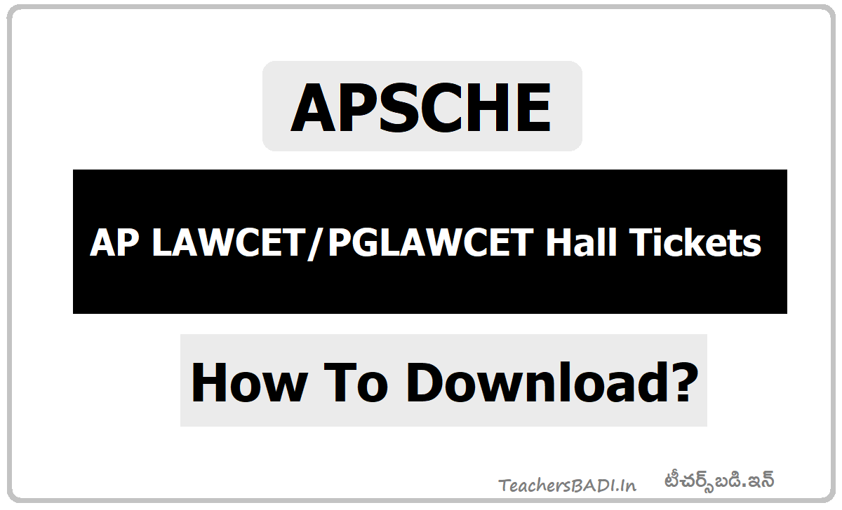 AP LAWCETPGLAWCET Hall Tickets