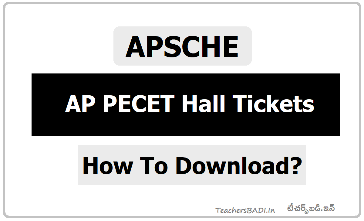 AP PECET Hall Tickets