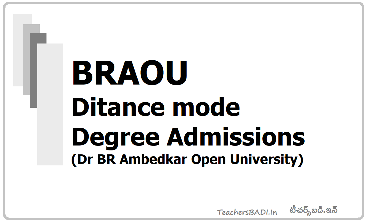 BRAOU Degree UG Admissions 2020