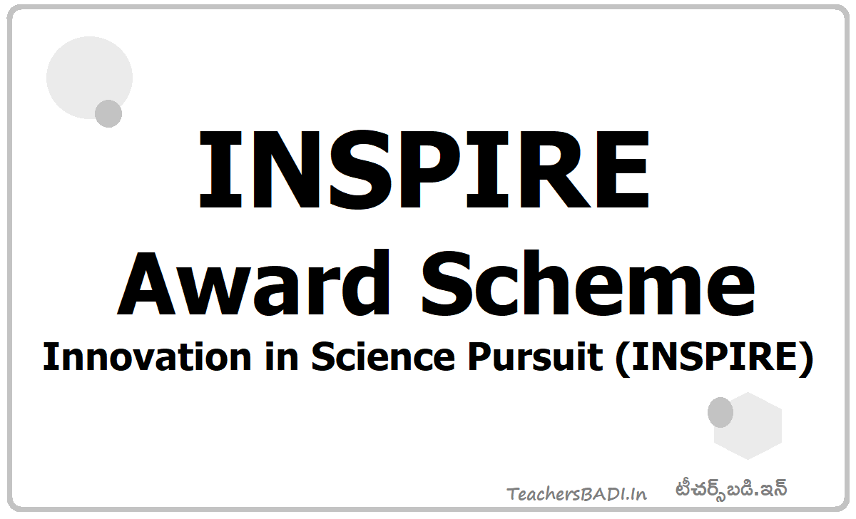 INSPIRE Award Scheme Innovation in Science Pursuit (INSPIRE)