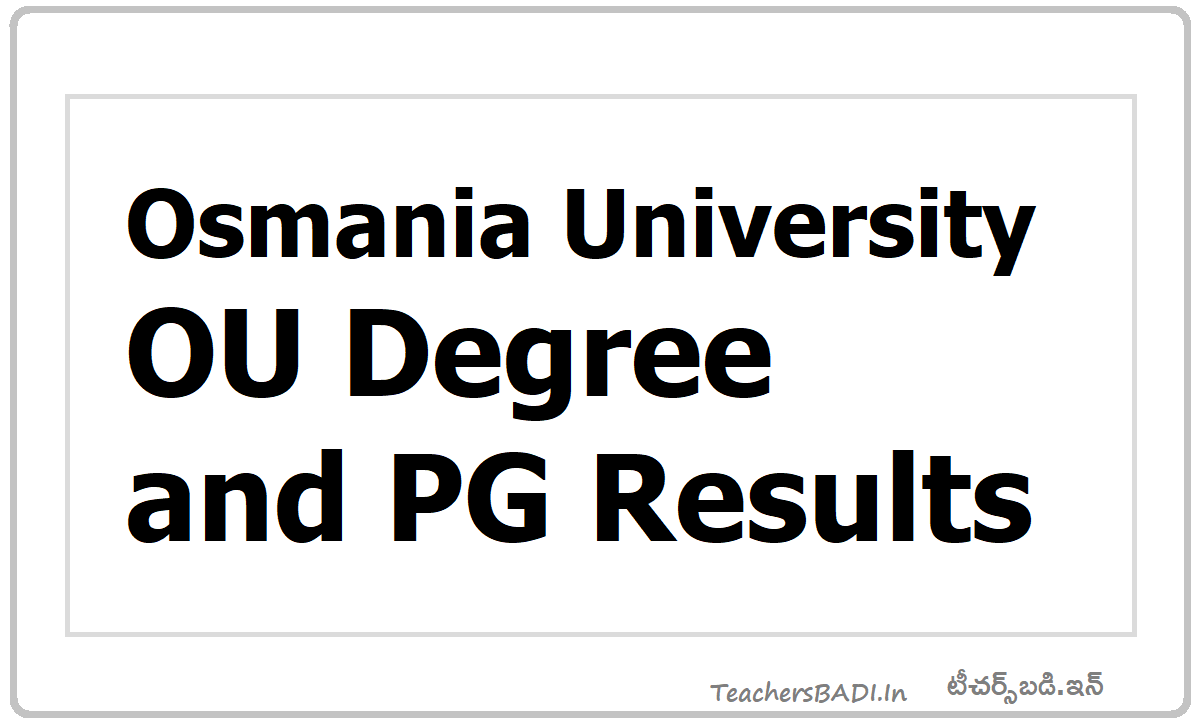 OU Degree & PG Results
