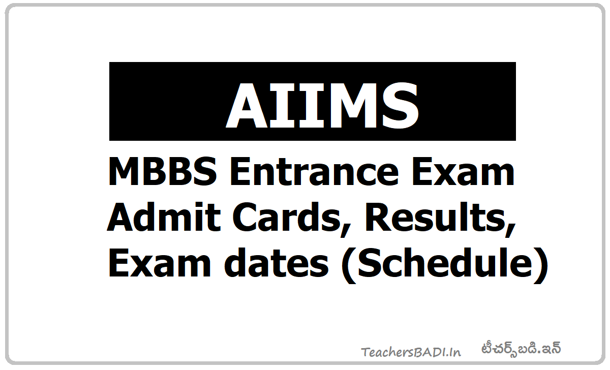 AIIMS MBBS Entrance Exam  Admit Cards, Results, Exam dates (Schedule)