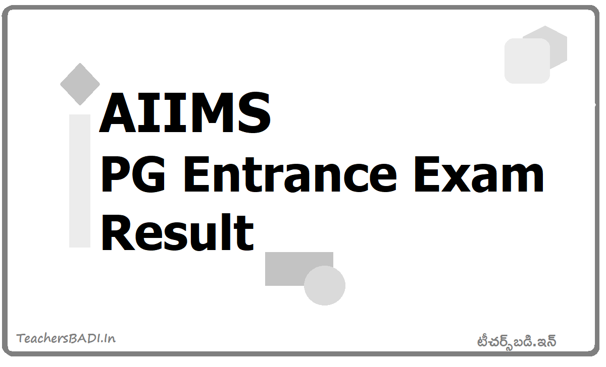 AIIMS PG Entrance Exam Result 2020 and Check result from here