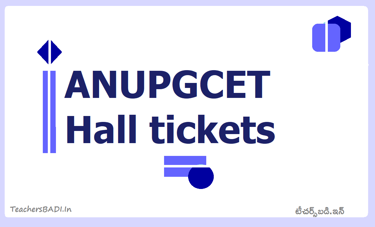 ANUPGCET Hall tickets 2020 download for ANUCET Exam