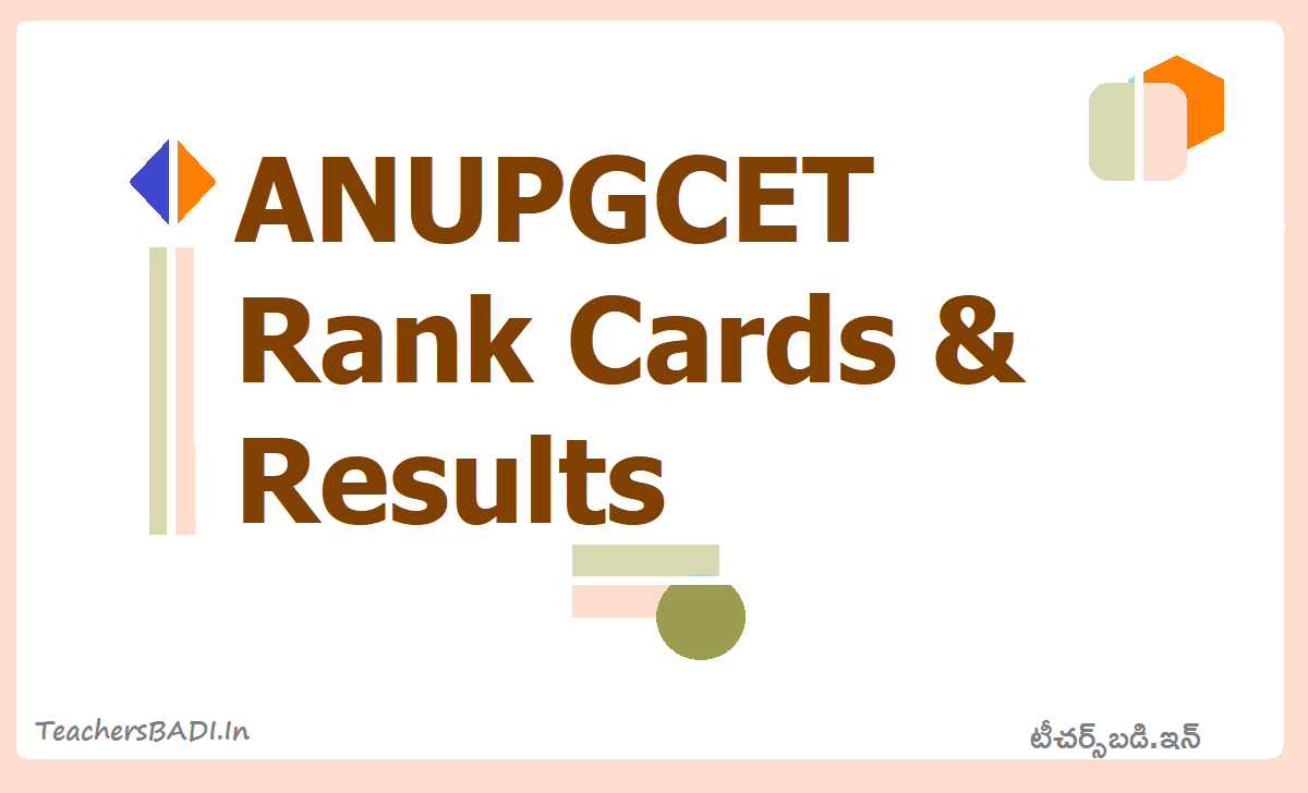 ANUPGCET Rank cards & Results 2020 (ANUCET)