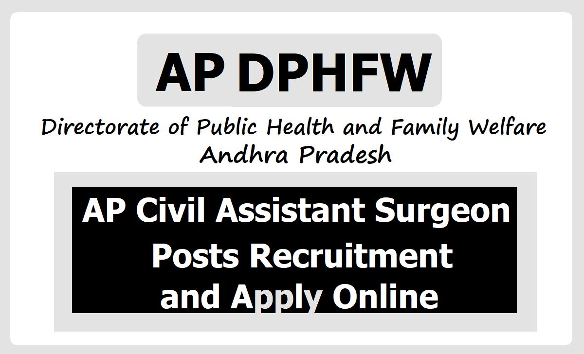 AP Civil Assistant Surgeon Posts 2020 Recruitment in Health Department