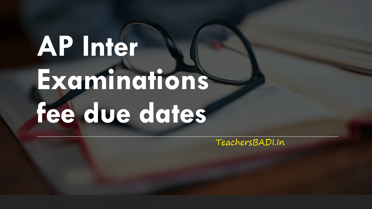 AP Inter Exams fee due dates 2020