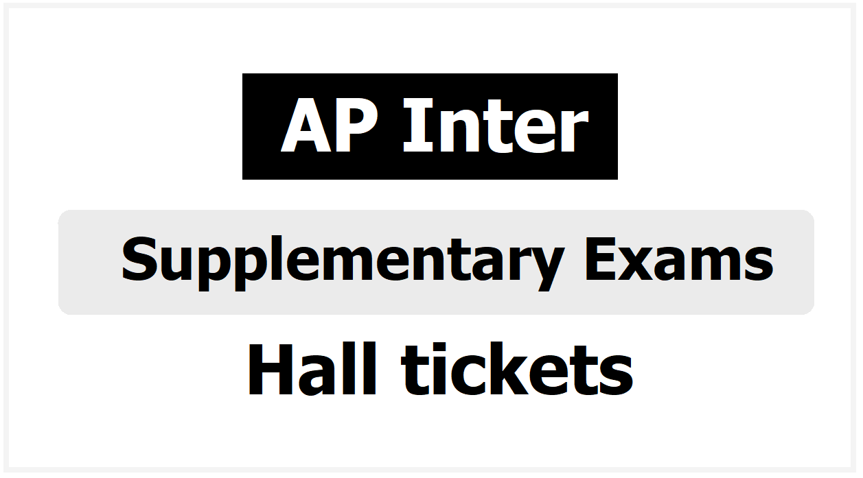 AP Inter Supplementary Exams Hall tickets