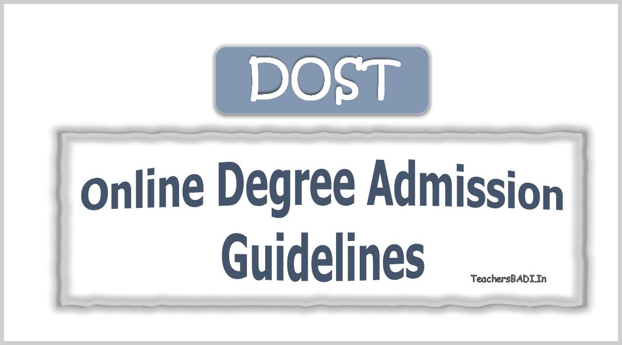 DOST Online Degree Admission Guidelines