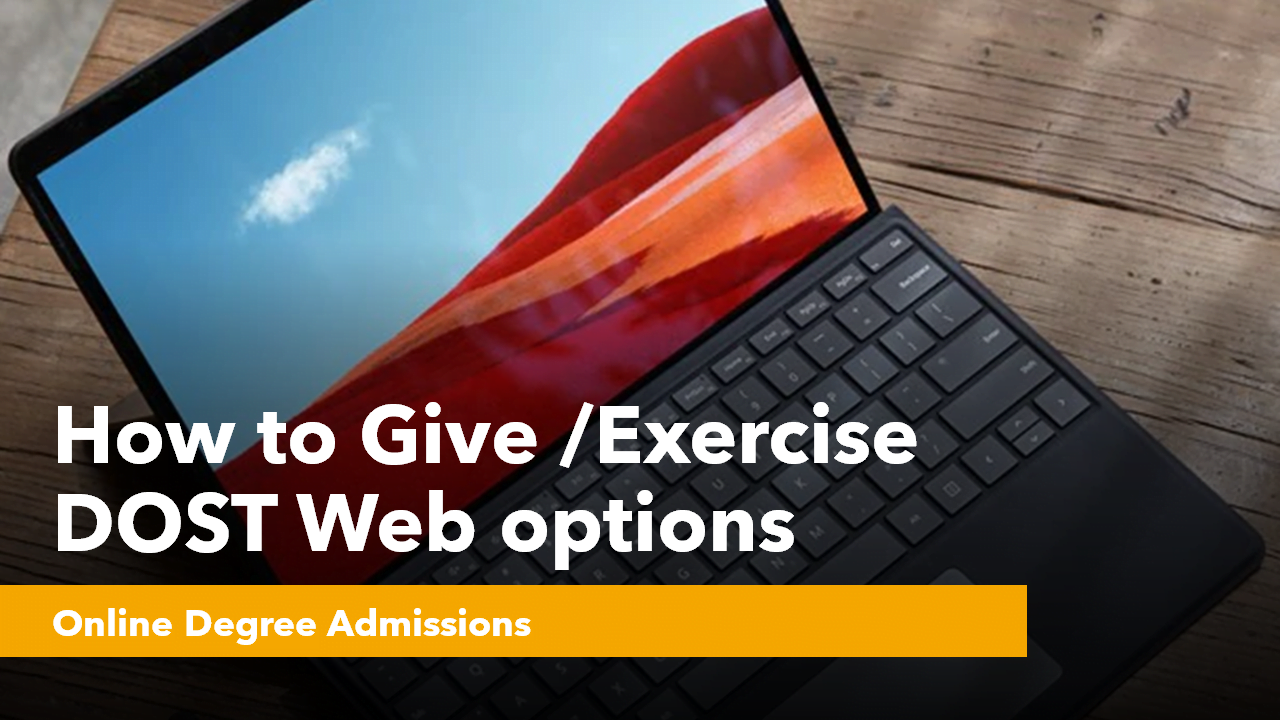 How to give Exercise DOST Web options