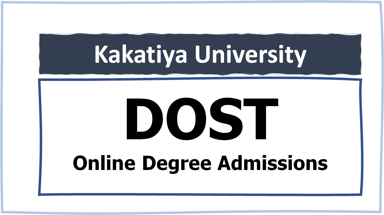 Kakatiya University Online Degree Admissions