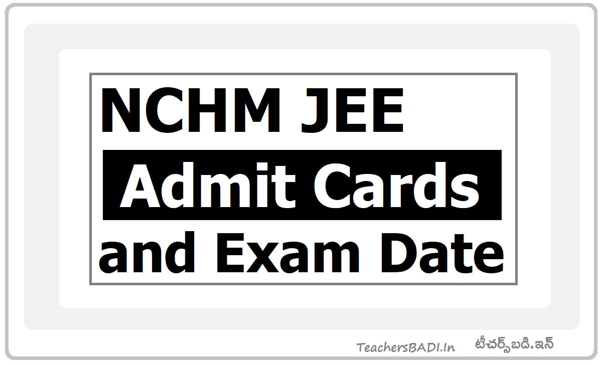 NCHM JEE 2021 Exam Date
